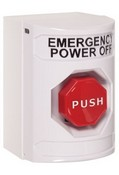 Safety Technology SS2302PO White Stopper Station Pushbutton No-Cover