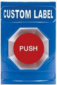 Safety Technology SS-2402 Stopper Station, Blue, Key to Reset - Custom Label