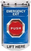 Safety Technology SS2418EX Stopper Station Pushbutton with Cover Timer Blue Lable