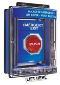 Safety Technology SS2462EX Blue Stopper Station Push Button with Mini Weather Cover