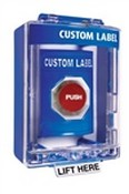 Safety Technology SS2474 Blue Stopper Station Push Button with Cover