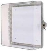 Safety Technology STI-7530 Protective Cabinet, Polycarbonate with Backplate and Key Lock - Clear