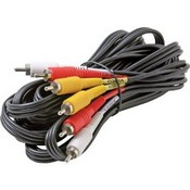 Steren 206-276 6-Feet 3-RCA Composite Video/Audio Cable