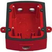System Sensor MWBB Wall, Metal Weatherproof Back Box, Red