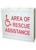 Talk-A-Phone ETPSIGNL Lighted Area Rescue Sign With Out Ups