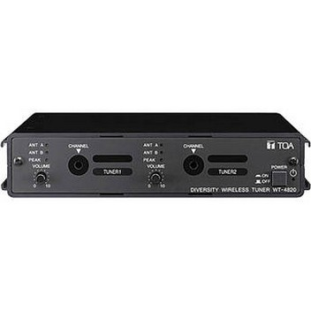 TOA Electronics 4820-LLTT3E WT-4820 Modular Dual Channel Wireless Microphone System (636 - 722MHz)