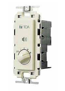 Toa Electronics AT303P 70V Flush-Mount Stepped Wall Attenuator, Volume on
