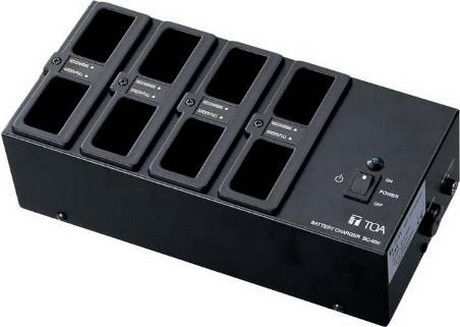 TOA Electronics BC-900UL Eight Bay Battery Charger for BP-900UL Chairperson Station Batteries