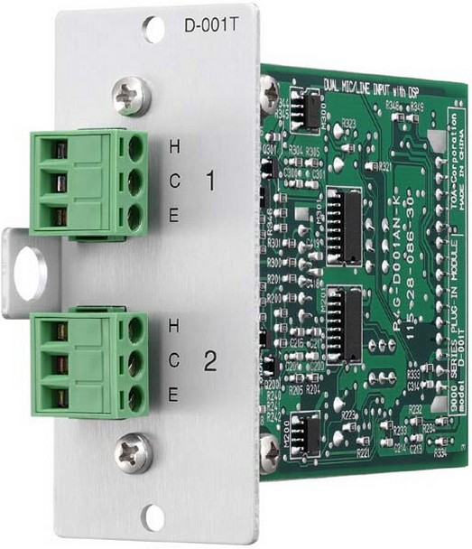 TOA Electronics D-001T Dual Mic/Line Input Module with DSP for Series 9000 Amplifiers