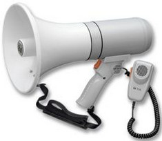 TOA Electronics ER-3215 23-Watt Hand Grip Megaphone with Detachable Microphone