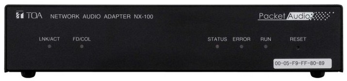 TOA Electronics NX-100S - Network Audio Adapter with Phantom Power