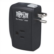 Tripp-Lite TRAVELER100BT 2 AC Outlets, Direct Plug-In Surge Suppressor With Single Line Ethernet Or Modem/Fax Surge Protection