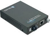 Trend Net TFC-1000S10D3 Intelligent 1000Base-TX to 1000Base-FX Dual Wavelength Single Mode SC Fiber Converter TX1310