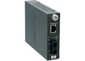 Trend Net TFC-110S15 100Base-TX to 100Base-FX Single Mode SC Fiber Converter (15KM, 9.3Miles)