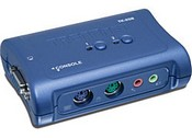 Trend Net TK-208K 2-Port PS/2 KVM Switch Kit with Audio