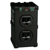 Tripp-Lite ULTRABLOK Direct Plug-In Isobar Surge Protector with 2 outlets and Black All-Metal Housing