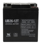 Universal Power Group 40596 12V 26Ah Battery (Ub26-12T) Tall