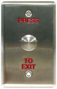 Usa Vision 81-PB410-001 PB41 Push Button, W:76mm Red Word