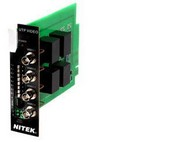 Nitek VB41X4 4 Balun TRSVCR Card W/ Surge Suppress
