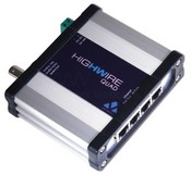 Veracity VHW-HWQ Highwire Quad Ethernet Over Co-Axial Converter with 4-Port Switch and PoE Out