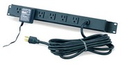 Winsted 98714 12-Outlet Power Panel with Circuit Breaker and Surge Suppressor