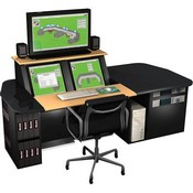 Winsted G5373 2-Bay LCD/3 Console with Rack Cabinet