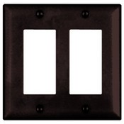 Legrand WP1207BR 2-Gang Decorator Wallplate Brown