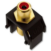 Legrand WP3462BK Red RCA to F-Connector Black