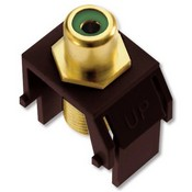 Legrand WP3463BR Green RCA to F-Connector Brown