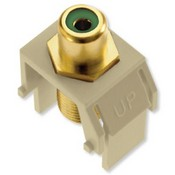 Legrand WP3463IV Green RCA to F-Connector Ivory