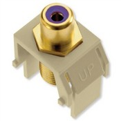 Legrand WP3466IV Purple RCA to F-Connector Ivory