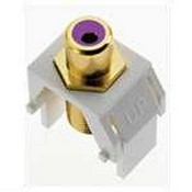 Legrand WP3466WH Purple RCA to F-Connector, White