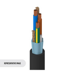 Belden 19364 010250 | Portable Cordage, 3 C #14 Str BC, PVC Ins, PVC Jkt, UL Type SJT