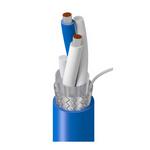 Belden 9463F J221000 | Blue Hose, 1 Pr #20 Str TC, PE Ins Blu, Clr, Foil+TC Brd, PVC Jkt, High Flex CM, AWM 2464