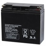 Bosch D1218 | 12 V 18 Ah sealed lead-acid battery with two bolt-fastened terminals