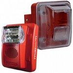 Bosch WGEC24-75WRLP | Wall Horn/strobe, Weatherproof 75cd, Red