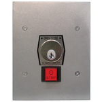 Camden Door Controls CM-CI-1KFS | Interior Use Industrial Key Switch, Flush Mount, NEMA 1 & 2, Heavy Duty Stop Button