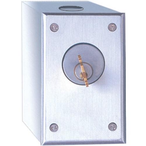 Camden Door Controls CM-1020 | Surface Mount Key Switch, SPDT, Momentary, Brushed Aluminum
