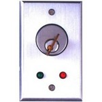 Camden Door Controls CM-1190 | Flush Mount Key Switch, Single Gang, DPDT Maintained, Brushed Aluminum