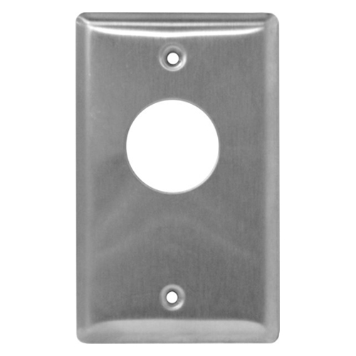 Camden Door Controls CM-1210   Key Switch, Stainless Steel Single Gang Faceplate, Flush Mount, SPST Maintained