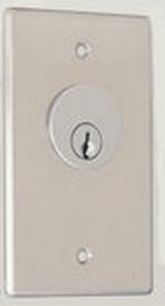 Camden Door Controls CM-1270-7212 | Key Switch, Stainless Steel, Flush Mount, Single Gang, SPDT Maintained & SPDT Momentary, Red & Green 12V LEDs