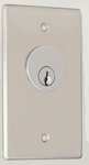 Camden Door Controls CM-1290-7212   Key Switch, Stainless Steel, Flush Mount, Single Gang, DPDT Maintained, Red & Green 12V LEDs