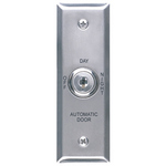 Camden Door Controls CM-170/23 | Automatic Operator Control Key Switch, Narrow Stainless Steel Faceplate, 3 Position Switch, Maintained, Off/Day/Night