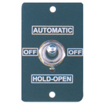 Camden Door Controls CM-190/31 | Toggle Switch, Mini Aluminum Faceplate, Three Position Switch, 'On', 'Off' and 'Hold Open'