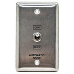 Camden Door Controls CM-195/30 | Toggle Switch, Single Gang Stainless Steel Faceplate, Two Position Switch, 'On' and 'Off'
