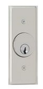 Camden Door Controls CM-2260-7224 | Key Switch, Stainless Steel, Flush Mount, Narrow, 2 SPDT Maintained, Red & Green 24V LEDs
