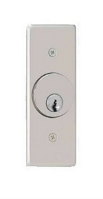 Camden Door Controls CM-2260 | Key Switch, Stainless Steel Narrow Faceplate, Flush Mount, 2 SPDT Maintained