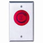 Camden Door Controls CM-3010R - ELEC PUSHB SWCH - MUSHROOM ILLUMINATED PUSH