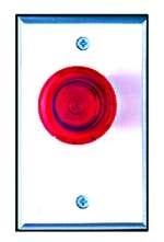 Camden Door Controls CM-3020R - ELEC PUSHB SWCH - MUSHROOM ILLUMINATED WITH RED
