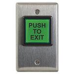 Camden Door Controls CM-30E | Single Label Switch, PUSH TO EXIT, 12-28V Incandescent